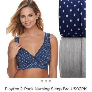 Nursing sleep bras 2 pk size large